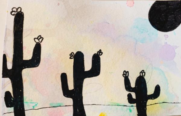 desert watercolors