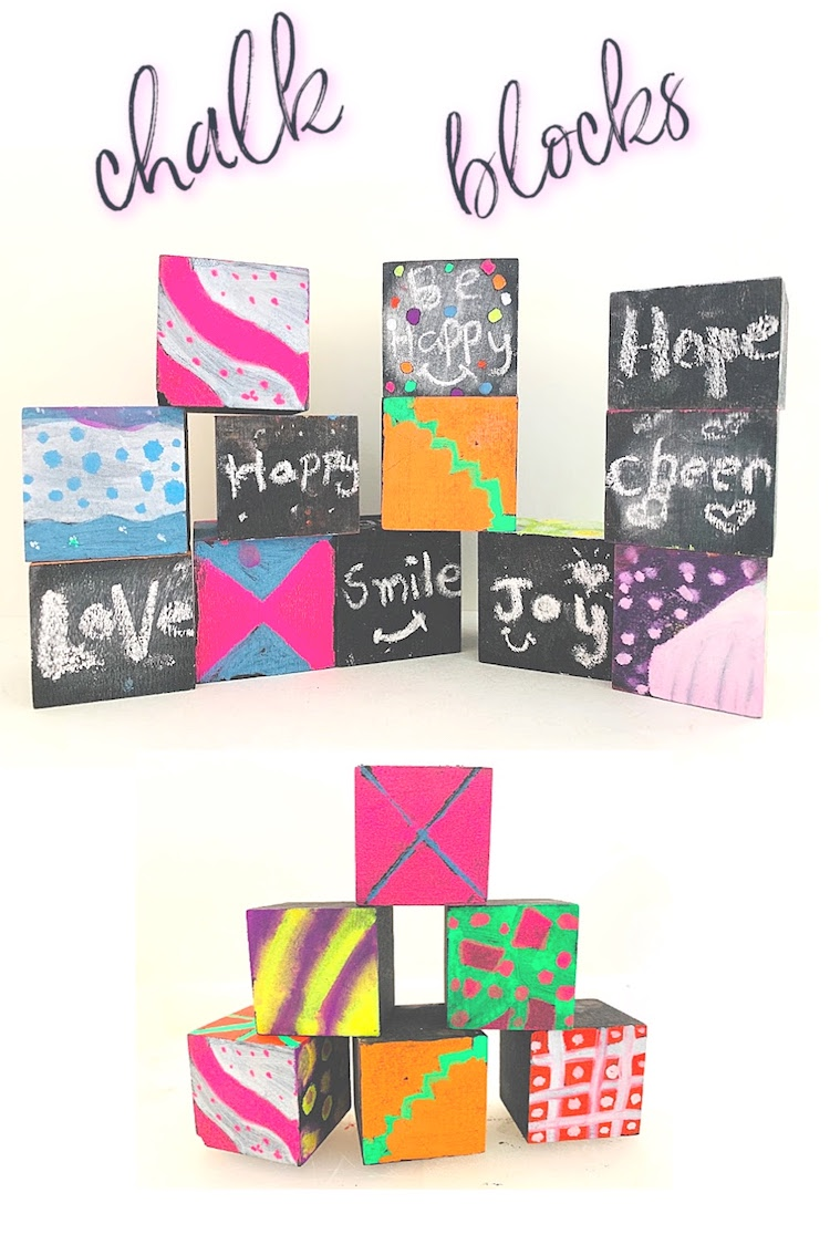fun art project for kids with liquid chalk and chalk markers