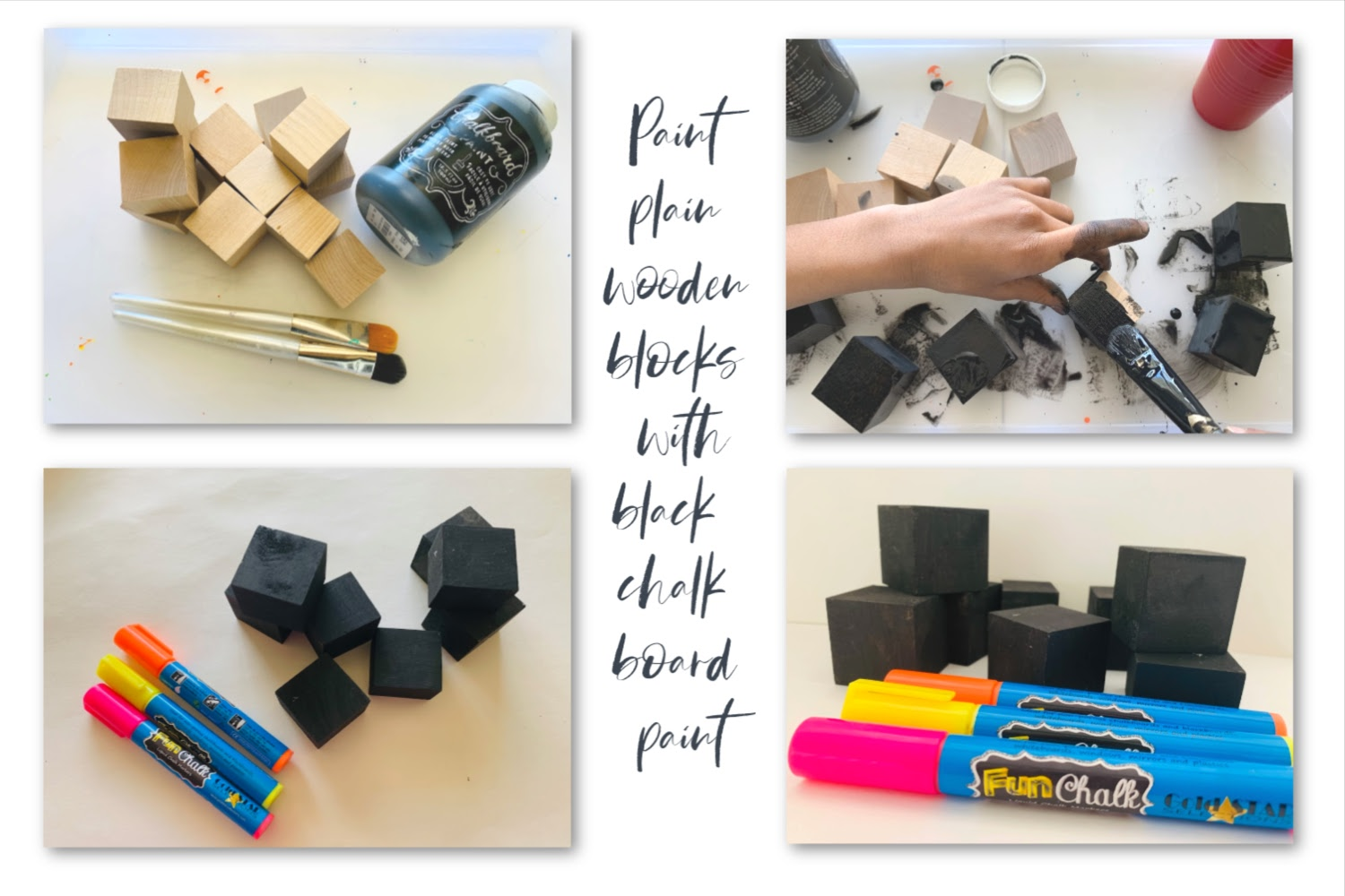 supplies needed for chalk blocks