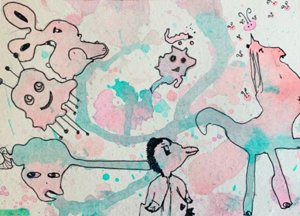 unicorns with watercolors