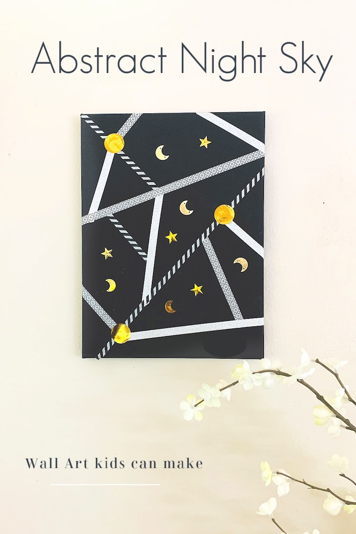 night sky craft wall art kids can make